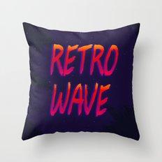 Retrowave Throw Pillow