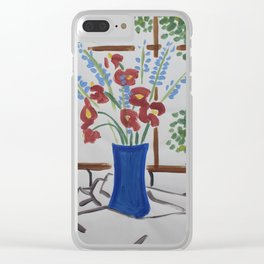 Sunning Flowers Clear iPhone Case