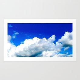 Clouds in a Clear Blue Sky Art Print
