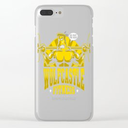 Wolfcastle Fitness Clear iPhone Case