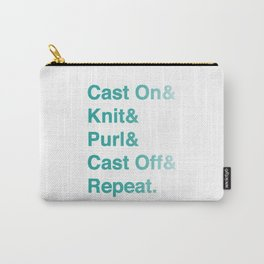 Knitting - Helvetica Ampersand Style Carry-All Pouch