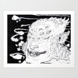 Multieyed w/ Cephelo-sideburns Art Print