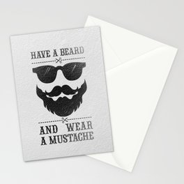 Wear a mustache Stationery Cards