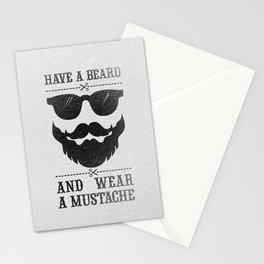 Wear a mustache Stationery Cards