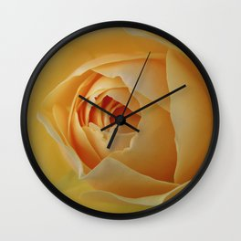 Yellow Graham Thomas Rose Wall Clock