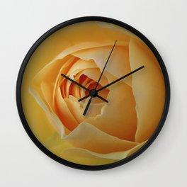 Yellow Graham Thomas Rose Wall Clock