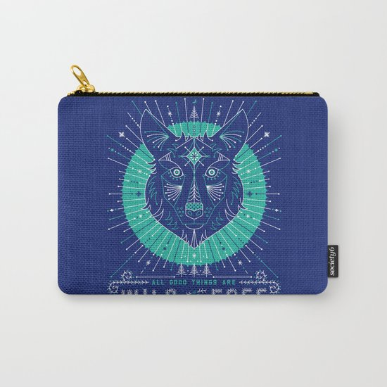 Wild & Free Wolf – Navy Carry-All Pouch