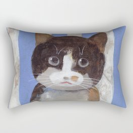 Missy or A Cat with Blue Stripes Rectangular Pillow