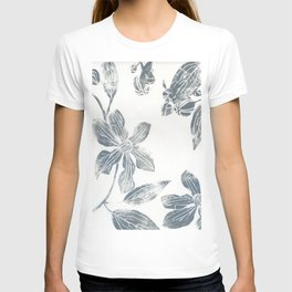 Silver clematis T-shirt