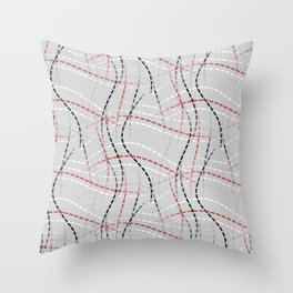 Stitches Abstract Throw Pillow