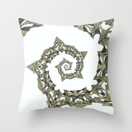 Fractal - Spiky Wood Spiral Throw Pillow