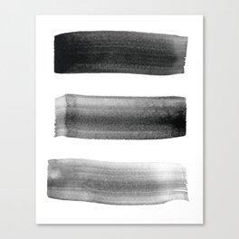 Three Brushes Canvas Print