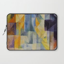 "Robert Delaunay ""Simultaneous Windows onto the City"" (1st Part, 2nd Motif, 1st Replica) Laptop Sleeve"