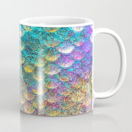 Aqua and Gold Mermaid Scales Coffee Mug