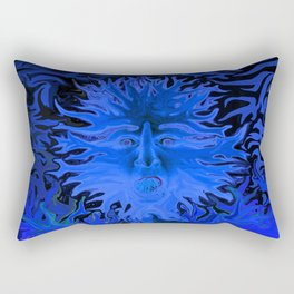 Surprise in Blue Rectangular Pillow