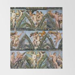 """Raffaello Sanzio da Urbino """"The Loggia of Psyche"""", 1517-18 Throw Blanket"""