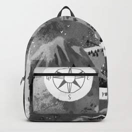 Moominvalley Map interpretation (Black & White) Backpack