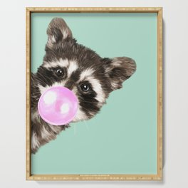 Bubble Gum Baby Raccoon Serving Tray