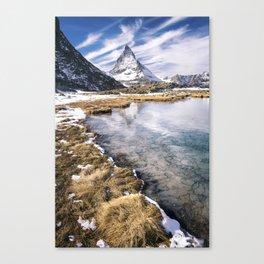 Icy Matterhorn Canvas Print
