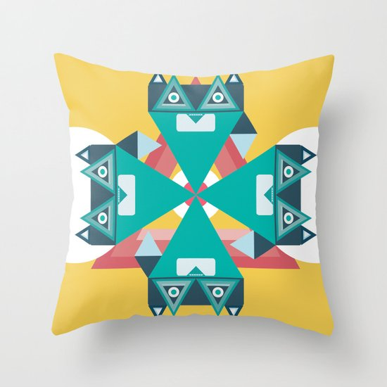 Biconic repetition Throw Pillow