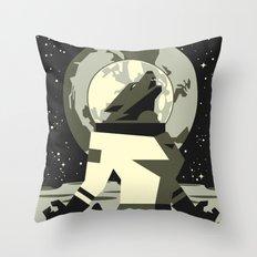 Werewolf in the Moon Throw Pillow