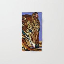 Emmitt the Whippet Dog Portrait Hand & Bath Towel