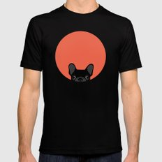 French Bulldog Black Mens Fitted Tee SMALL
