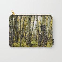 Rain-Soaked Aspen Bark Carry-All Pouch