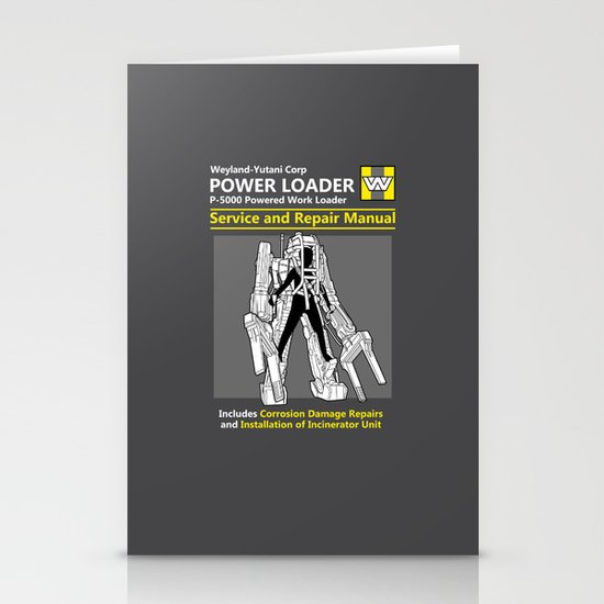 Power Loader Service and Repair Manual Stationery Cards