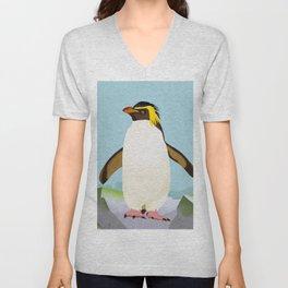 Rockhopper Penguin Unisex V-Neck