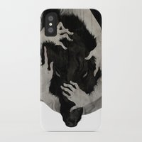 hands iPhone & iPod Cases featuring Wild Dog by Corinne Reid