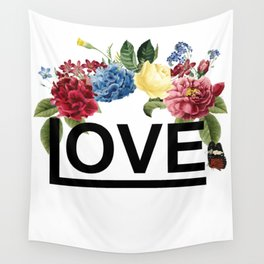 love floral Wall Tapestry