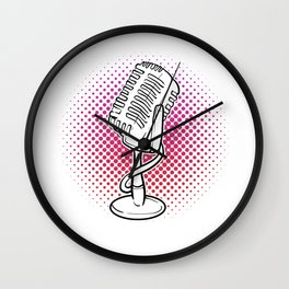 Vintage Mic Musician or Composer Gift Wall Clock