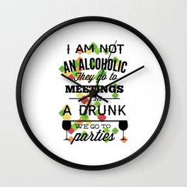drunk alcoholic Wall Clock