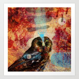 She knows everything Art Print
