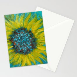 Sunflowers on Turquoise II Stationery Cards