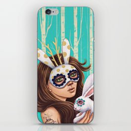 Jackalope and Bunny iPhone Skin