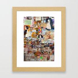 Stuffed Animal,Condom,Signature Framed Art Print