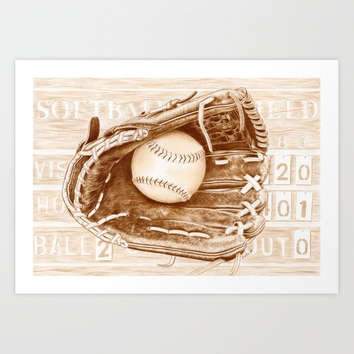 Softball Art Print