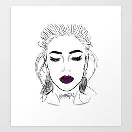 Huda Beauty in Material Girl Liquid Matte Lipstick Art Print