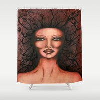 radio Shower Curtains featuring Radio Frequency  by DBetty