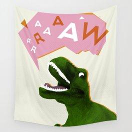 Dinosaur Raw! Wall Tapestry
