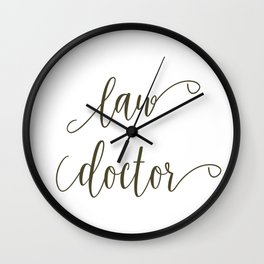 Law Doctor Wall Clock