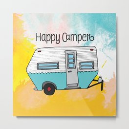 Happy Camper [color] Metal Print