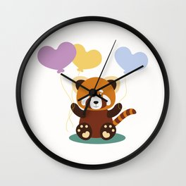 Lovely Red Panda Wall Clock