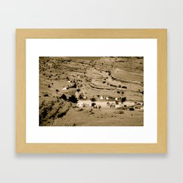 Desert village Framed Art Print