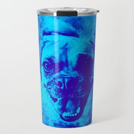 happy pug dog wsbt Travel Mug