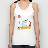birthday Tank Tops featuring Happy birthday! by Villie Karabatzia