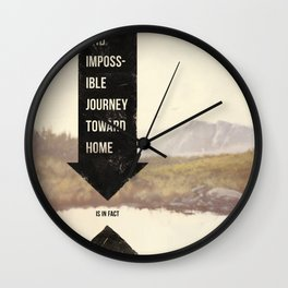 Endless Journey Home Wall Clock