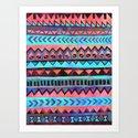 PATTERN {Tribal Stripe- Aqua} by schatzibrown
